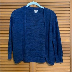 Navy blue lightweight sweater.
